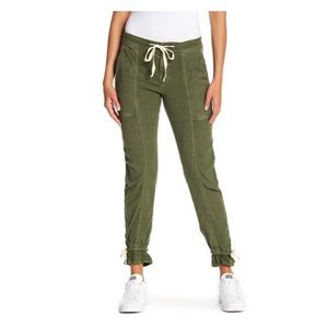 Joie MAJA Army Green Ankle Tie Cargo Pants